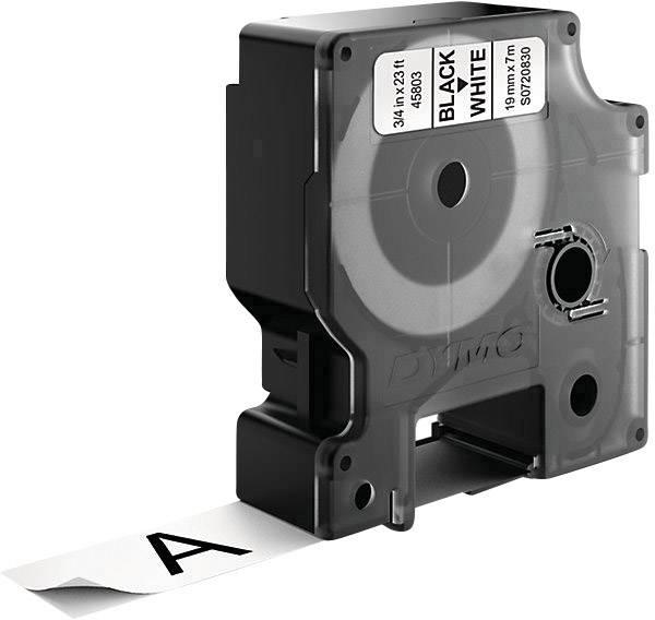 Páska do štítkovača DYMO 45803, 19 mm, 7 m, čierna, biela