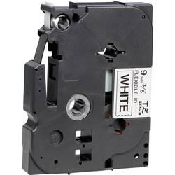 Páska do štítkovače Brother TZe-FX221, 9 mm, TZe-FX, TZ-FX, 8 m, černá/bílá