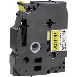 Páska do štítkovače Brother TZe-FX641, 18 mm, TZe-FX, TZ-FX, 8 m, černá/žlutá