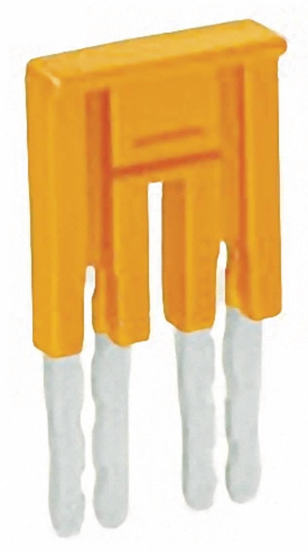 Můstek 3nás. Jumper Wago 282-433, izolovaný, oranžová