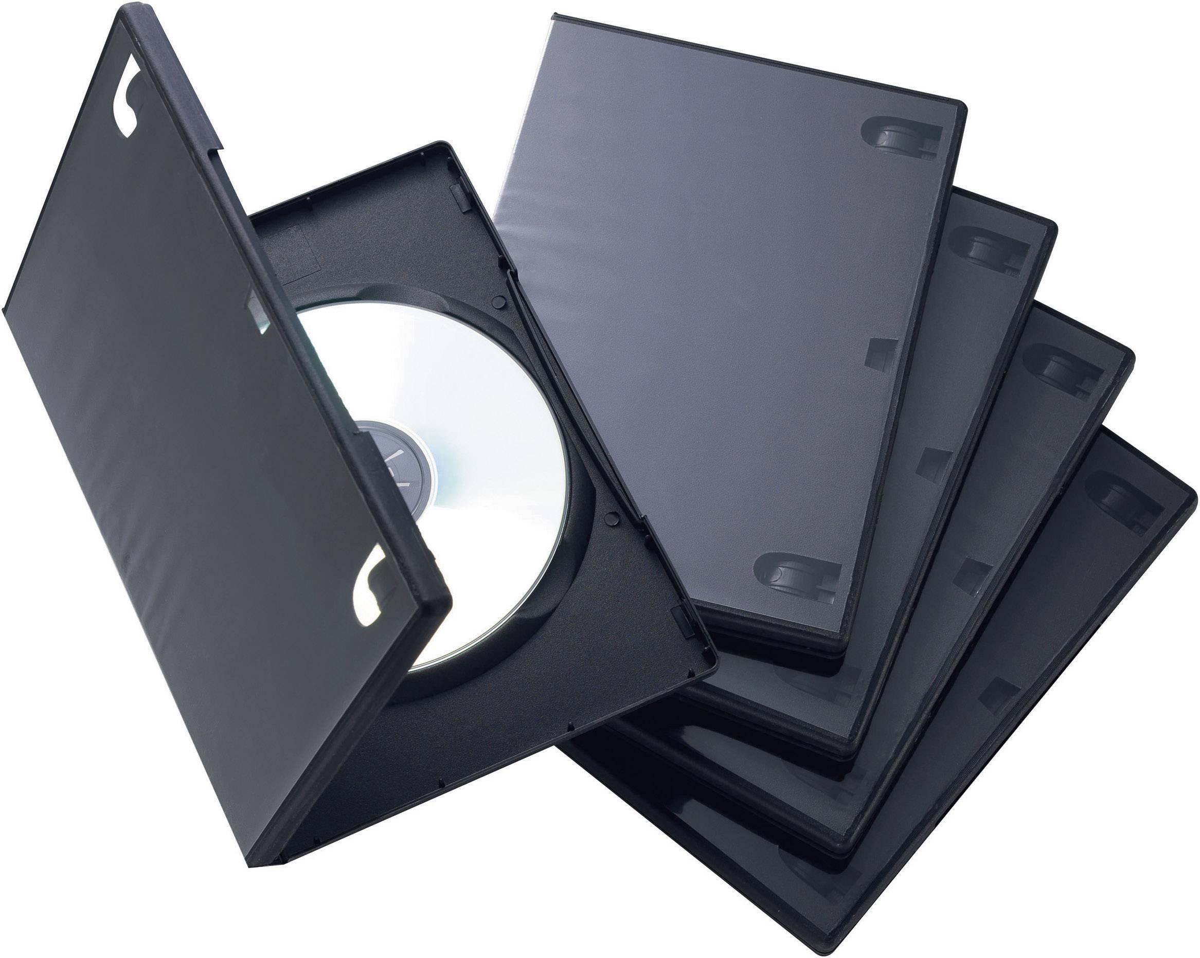DVD BOX, ČERNÝ, 15mm, SADA 5ks