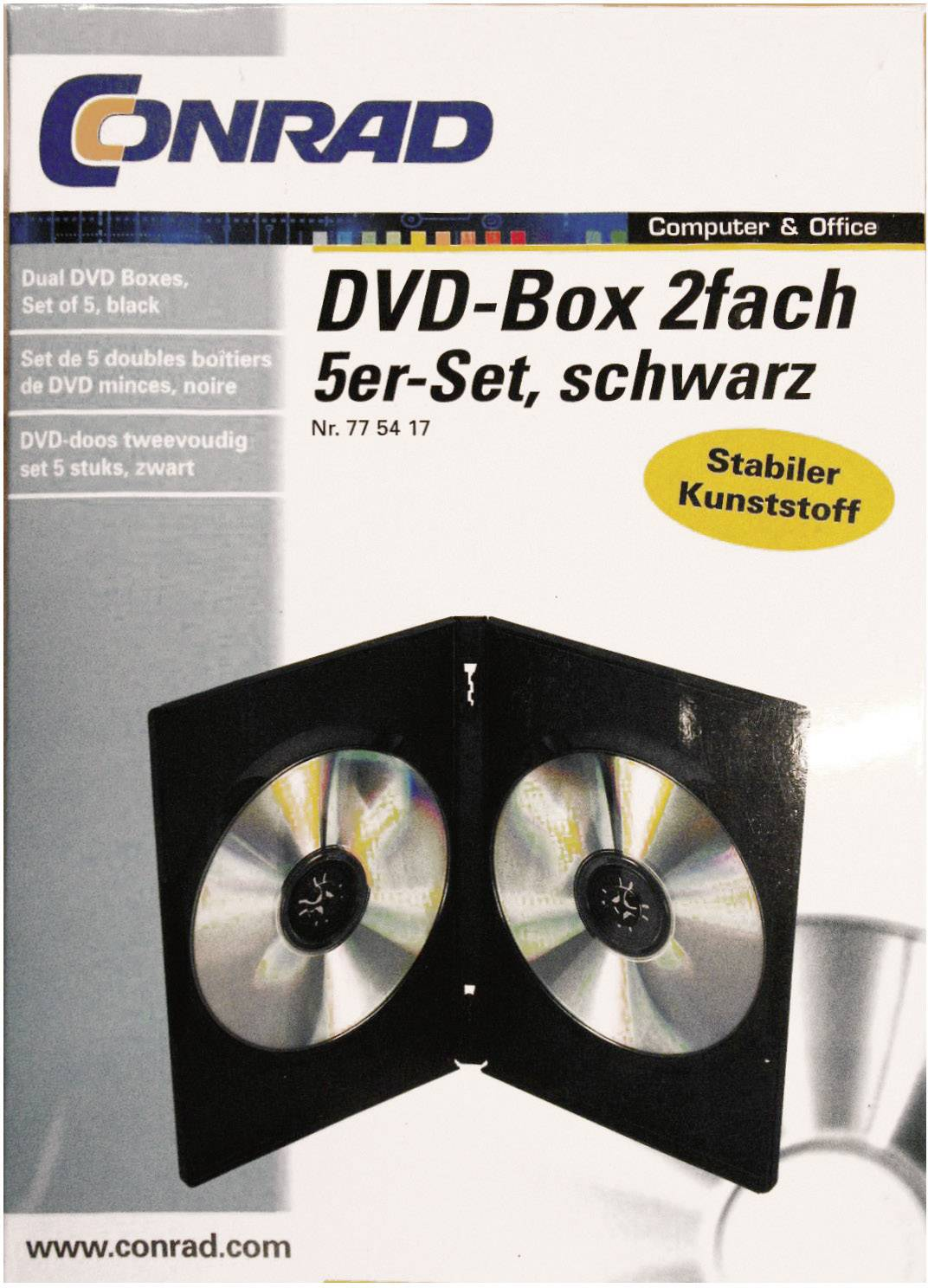 DVD BOX, 2x JEWEL SADA 5 KS,ČERNÝ