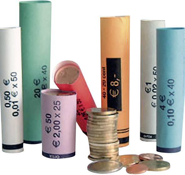 Ruličky z papíru pro zabalení Euro mincí Betec, 80 ks
