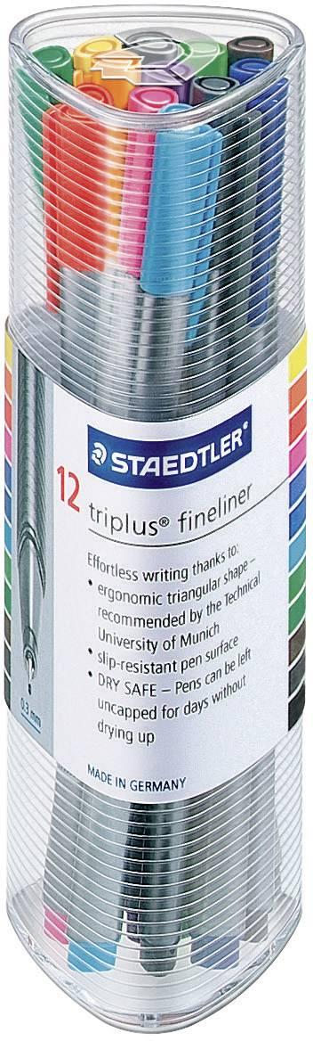 Pera Staedler triplus fineliner 0,3 mm, sada 12 ks