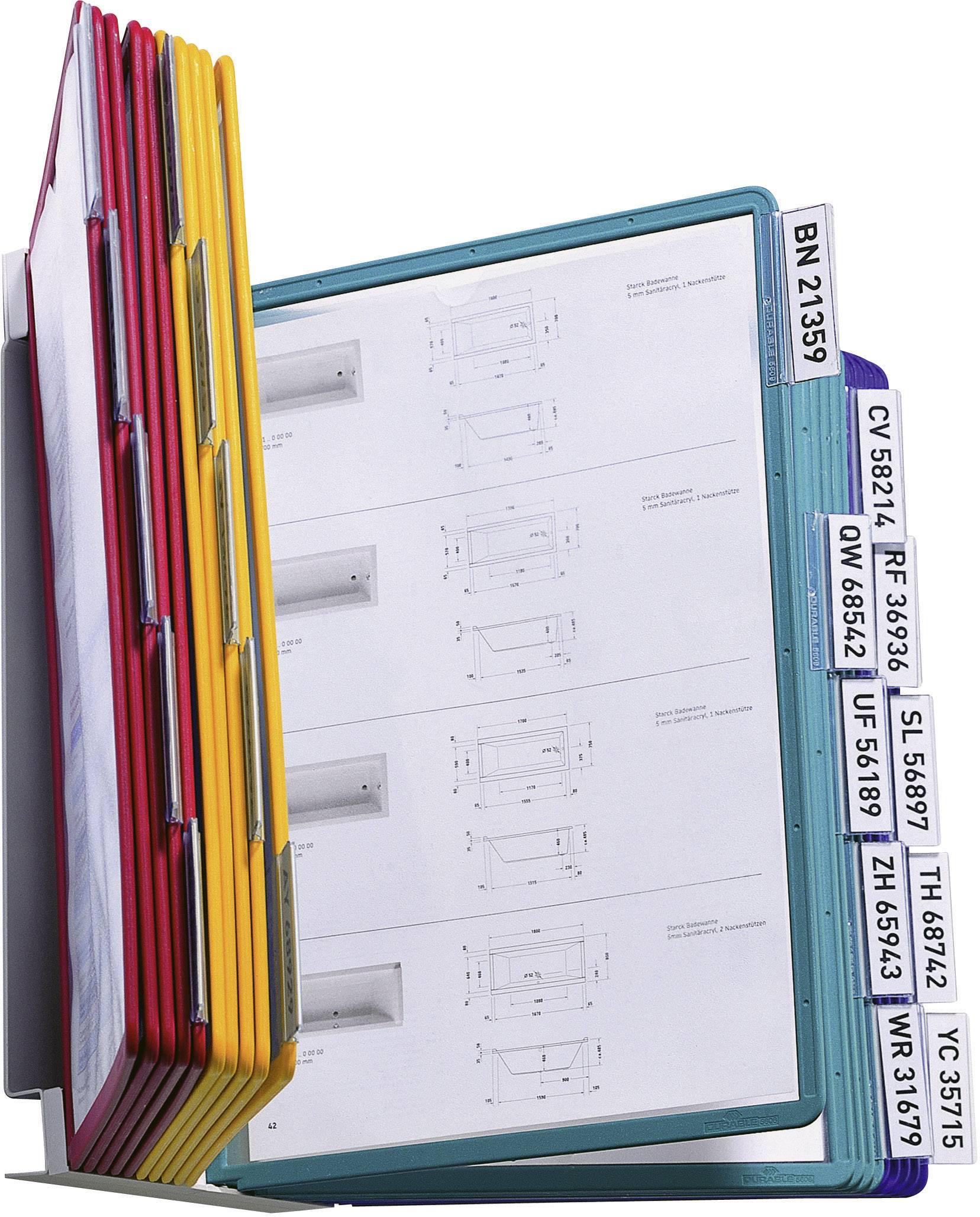 Stojan na zeď s 20 tabulkami Durable