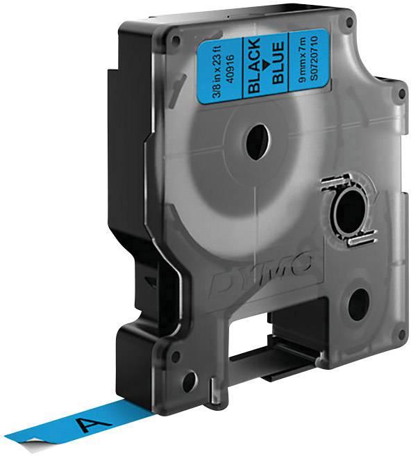 Páska do štítkovača DYMO 40916, 9 mm, 7 m, čierna, modrá