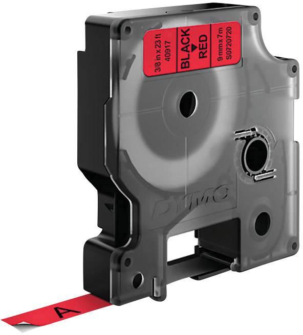 Páska do štítkovača DYMO 40917, 9 mm, 7 m, čierna, červená