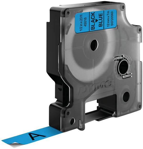Páska do štítkovače DYMO 45016 (S0720560), 12 mm, D1, 7 m, černá/modrá