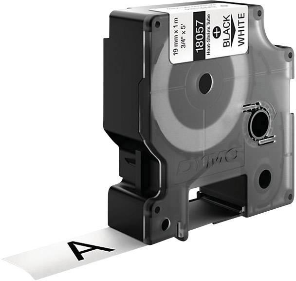Teplom zmršťovacie trubice DYMO 18057, 19 mm, 1.5 m, čierna, biela