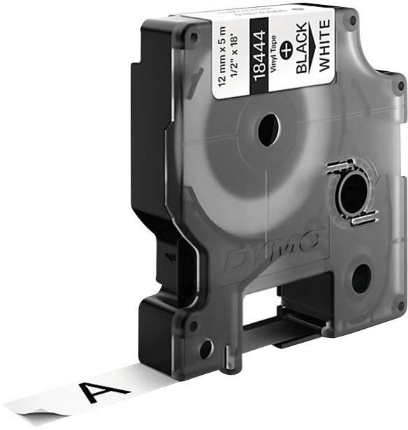 Páska do štítkovača DYMO 18444, 12 mm, 5.5 m, čierna, biela