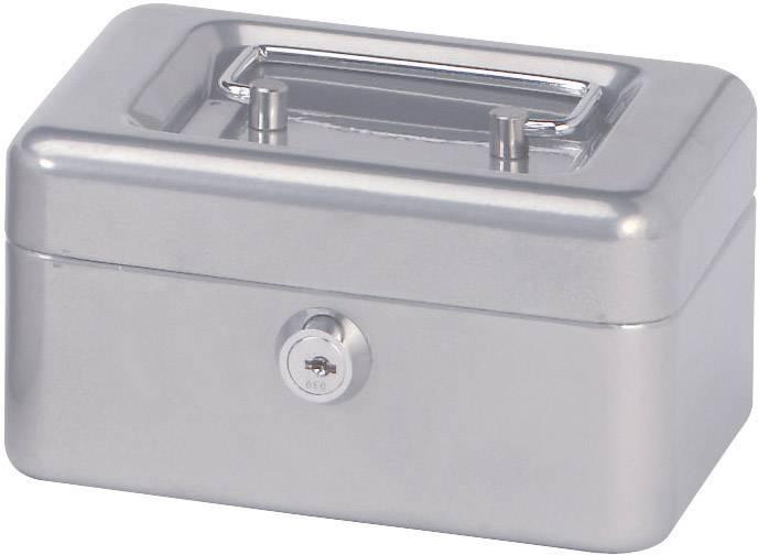 Kufřík na peníze Maul, 15 cm, stříbrná