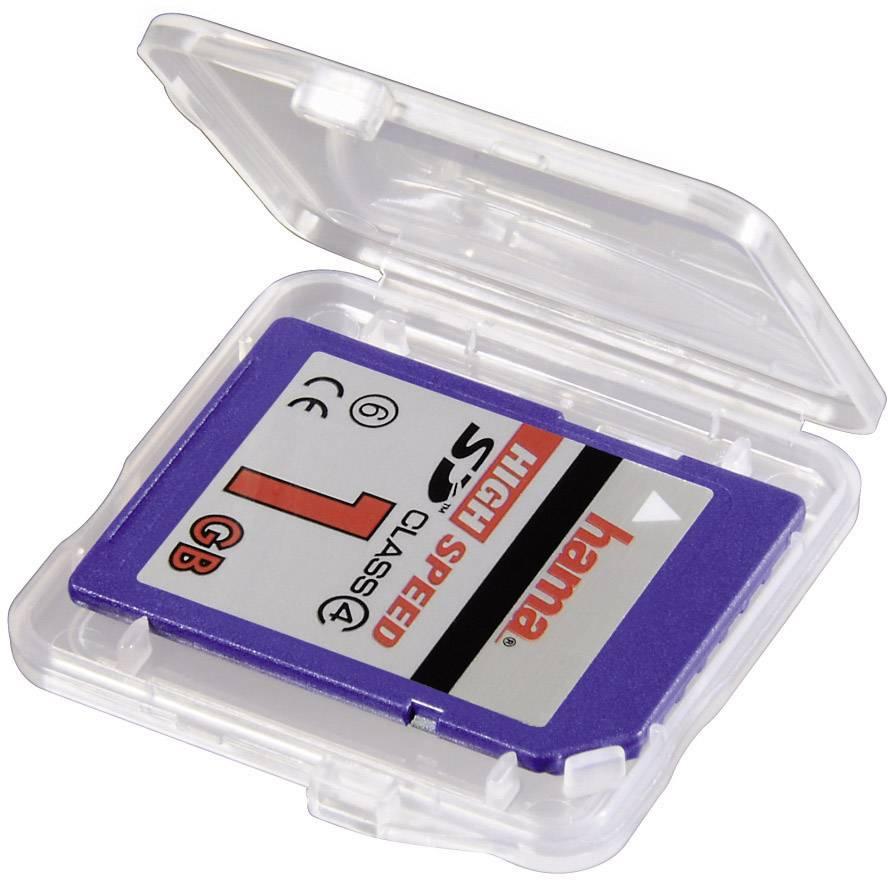 Puzdro pre pamäťové karty Hama SD Slim Box 00095949, priehľadná