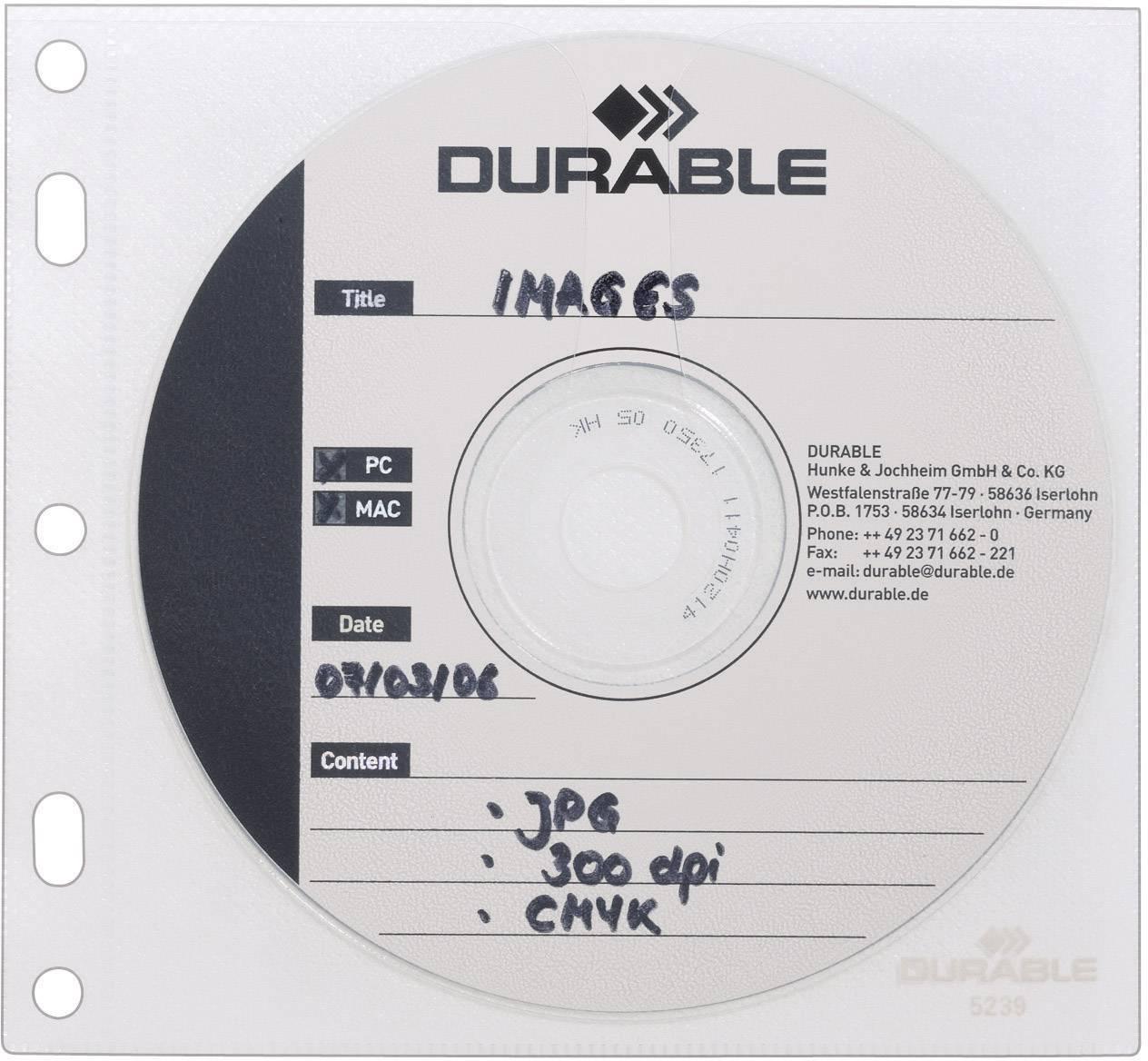 Obaly na CD/DVD pro kroužkovouvazbu sada 10 ks
