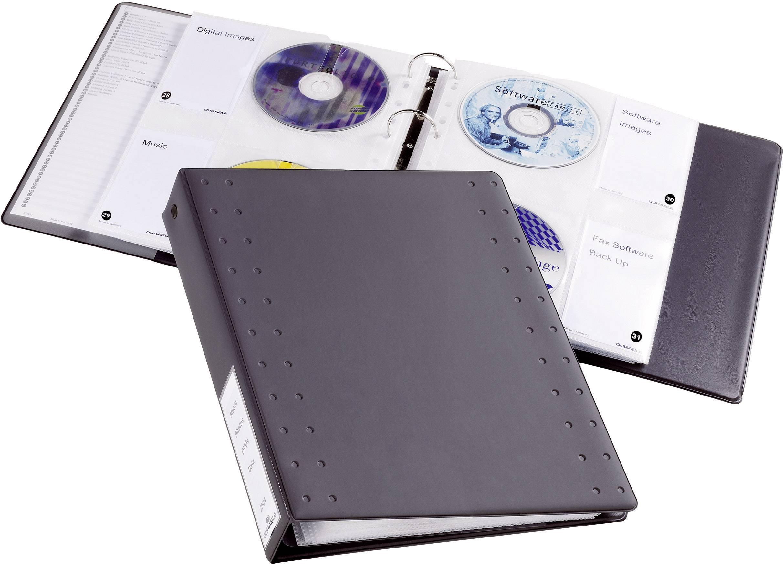CD/DVD obaly Durable 5227-58 na 40 CD/DVD, antracitová