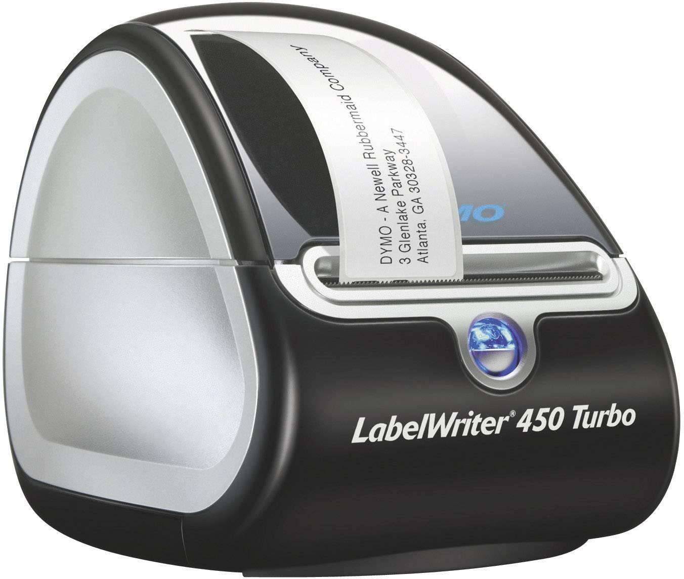 Tlačiareň štítkov termálna s priamou tlačou DYMO LabelWriter 450 Turbo, Šírka etikety (max.): 56 mm, USB