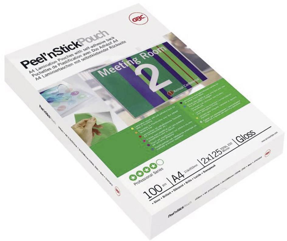 Laminovacia fólia GBC A4, 125 micron, lesklý, samolepiace, 100 ks