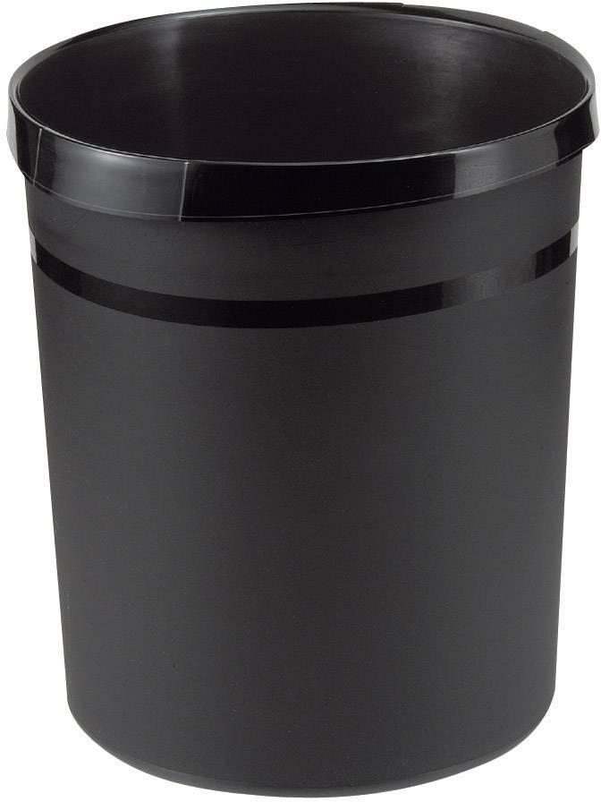Kôš na papier HAN Grip, 350 mm, vonkajší Ø 237 mm, 18 l, čierna