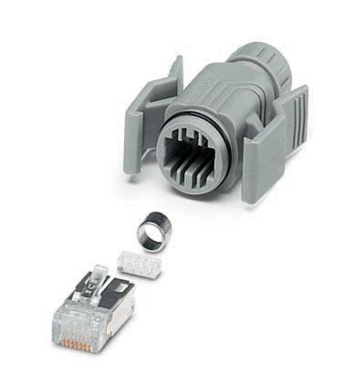 Dátový zástrčkový konektor pre senzory - aktory Phoenix Contact VS-08-T-RJ45/IP67-SET 1689475, 5 ks