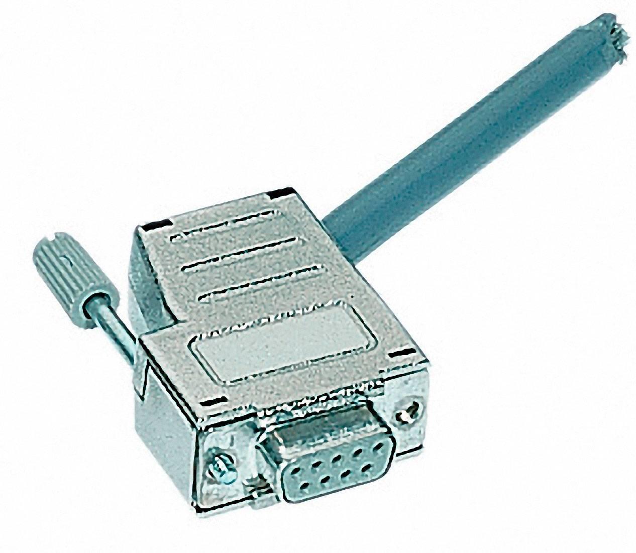 D-SUB pouzdro Harting 09 67 009 0435, Pólů: 9, plast, pokovený, 180 °, 45 °, stříbrná, 1 ks