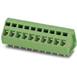 Pružinová svorkovnice Phoenix Contact ZFKDS 1,5-5,08 1706701, 1.50 mm², Pólů 1, zelená, 250 ks