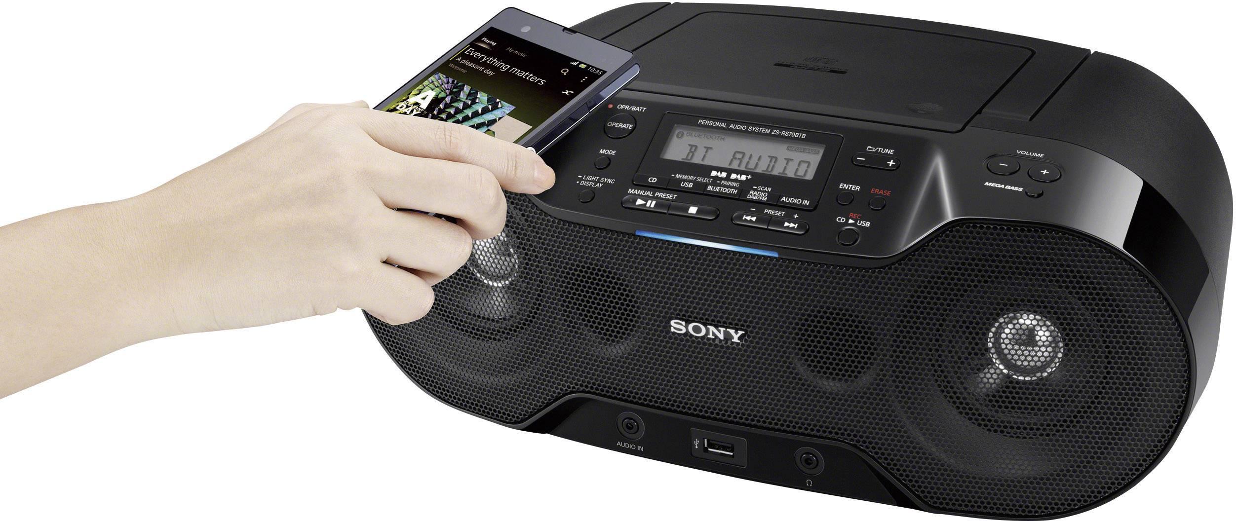 DAB+ rádio s CD Sony ZS-RS70BTB, čierne