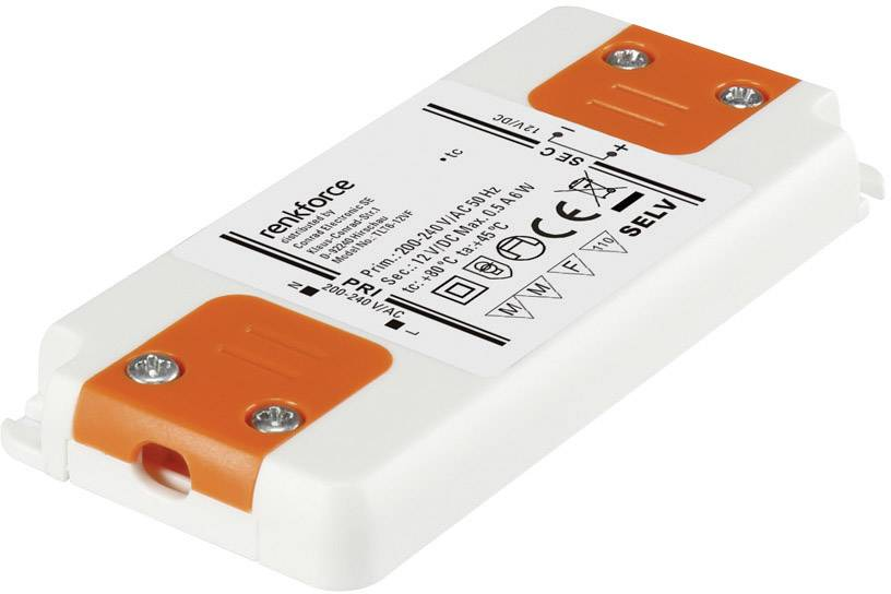 Napájací zdroj pre LED Renkforce 6 W (max), 0.5 A, 12 V/DC