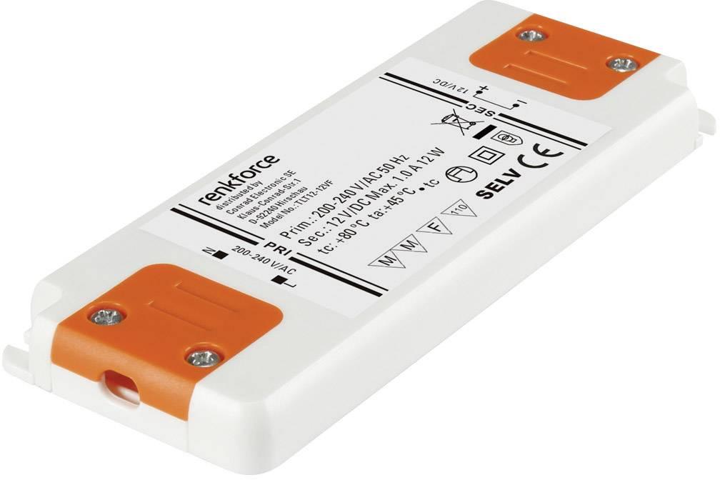 Napájací zdroj pre LED Renkforce 12 W (max), 1 A, 12 V/DC
