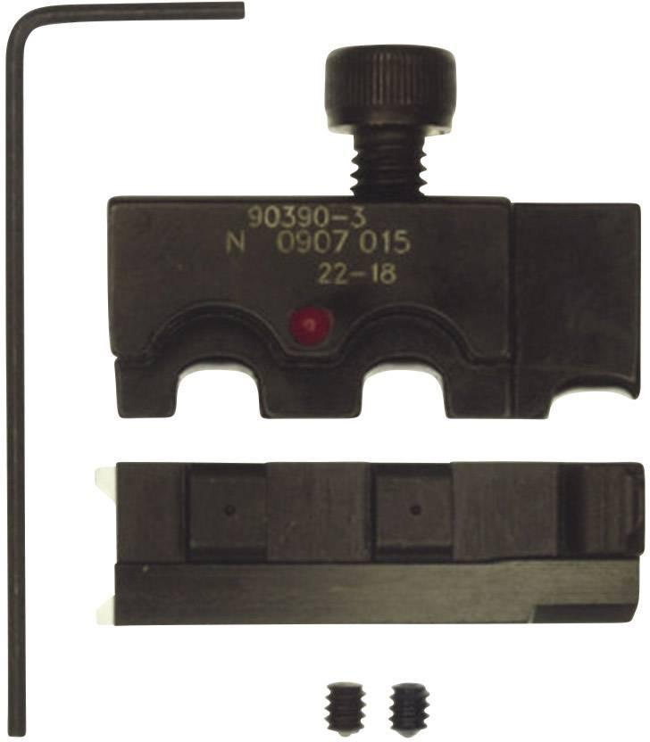 Krimpovací čelisti TE Connectivity 90390-3, 0,3 mm² - 0,9 mm², černá