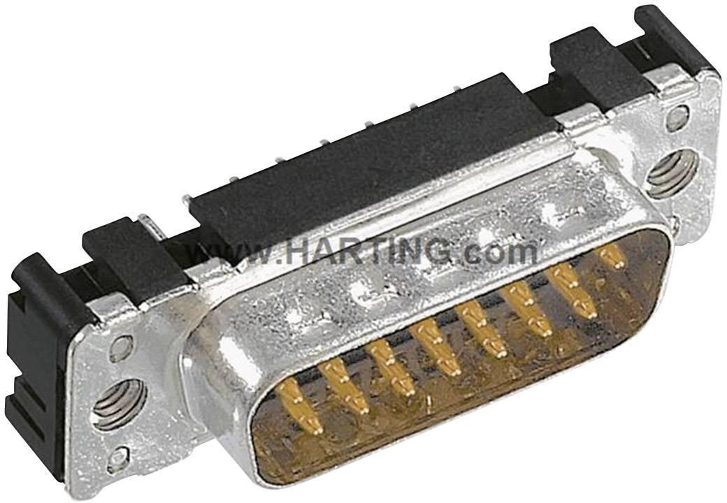 D-SUB kolíková lišta Harting 09 65 261 7712, 180 °, Počet pinov 15, spájkovaný konektor, 1 ks