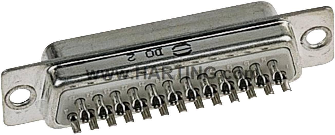 D-SUB zásuvková lišta Harting 09 67 009 4704, 180 °, pólů 9, pájecí kalíšek, 1 ks