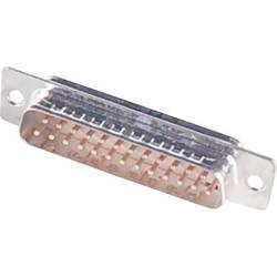 D-SUB zásuvková lišta Harting 180 °, pólů 50, pájecí kalíšek, 1 ks