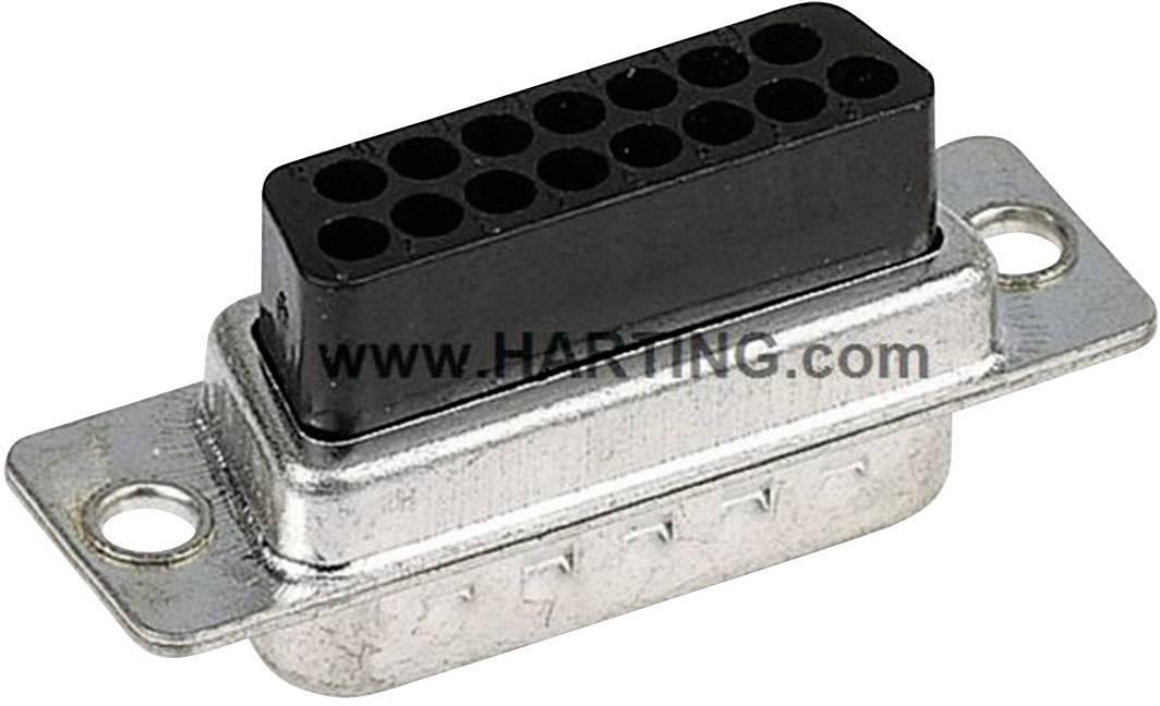 D-SUB zásuvková lišta Harting 09 67 015 4701, 180 °, pólů 15, krimpované, 1 ks