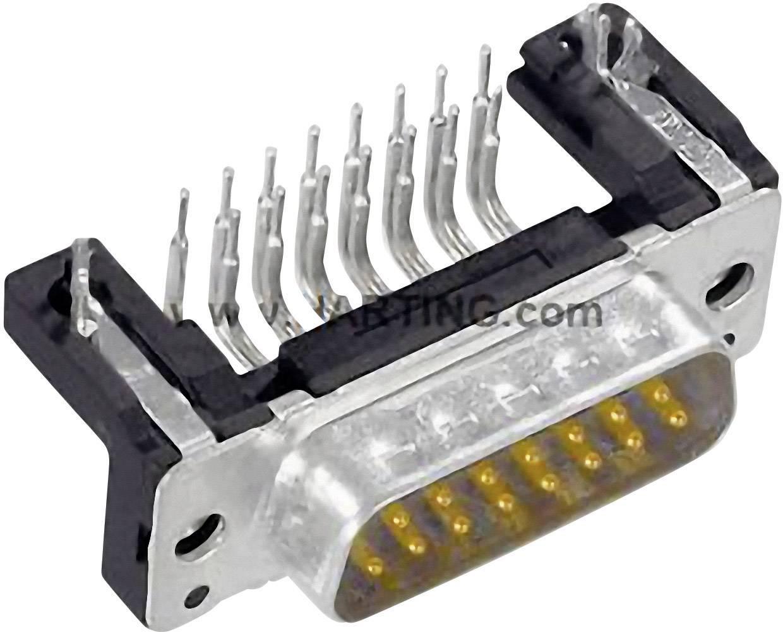 D-SUB kolíková lišta Harting 09 66 262 6812, 180 °, Počet pinov 15, spájkovaný konektor, 1 ks