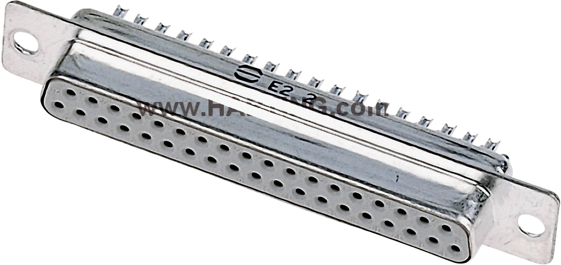 D-SUB zásuvková lišta Harting 09 67 225 4704, 180 °, pólů 25, pájecí kalíšek, 1 ks