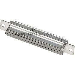 D-SUB zásuvková lišta Harting 180 °, Počet pinov 15, spájkovaný, 100 ks