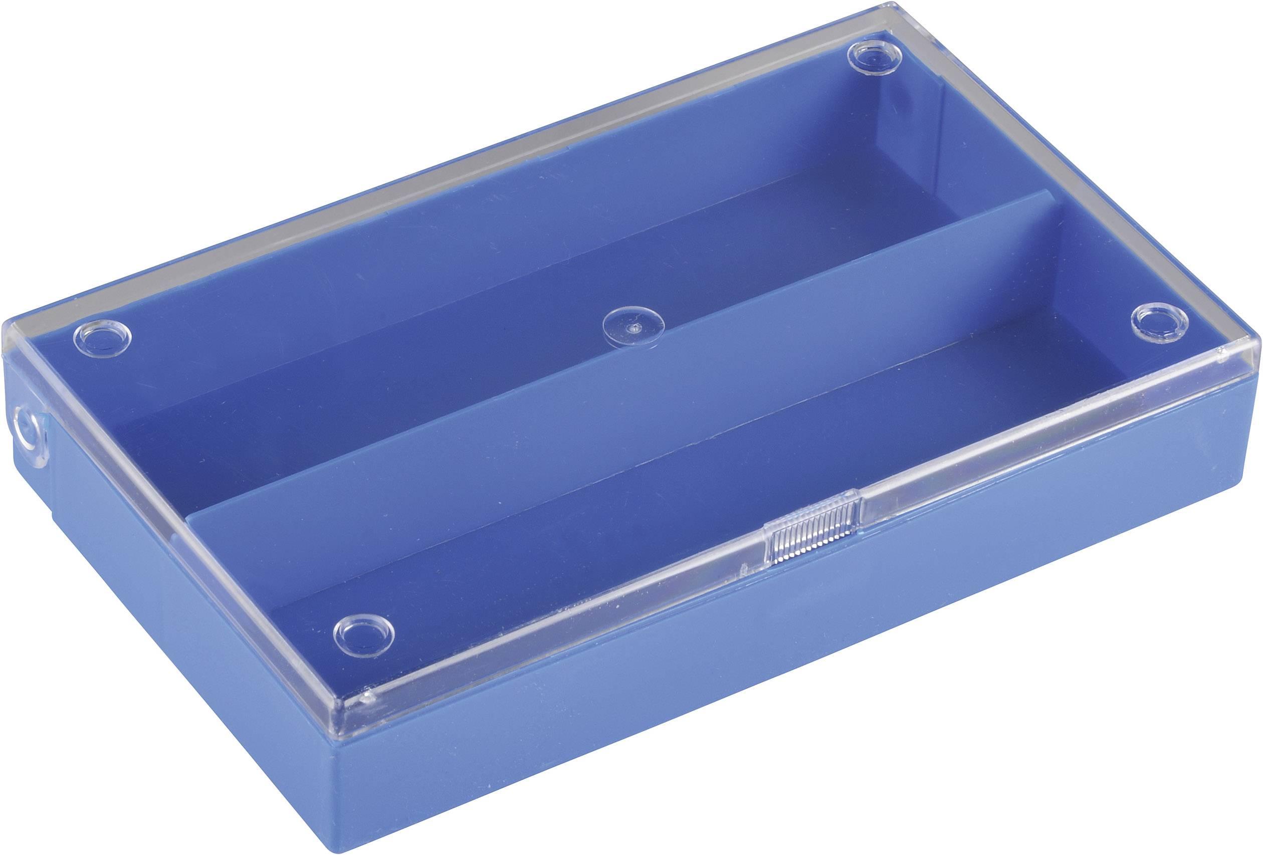 Zásobník na součástky (krabička) - 2 přihrádky, 164 x 31 x 101 mm
