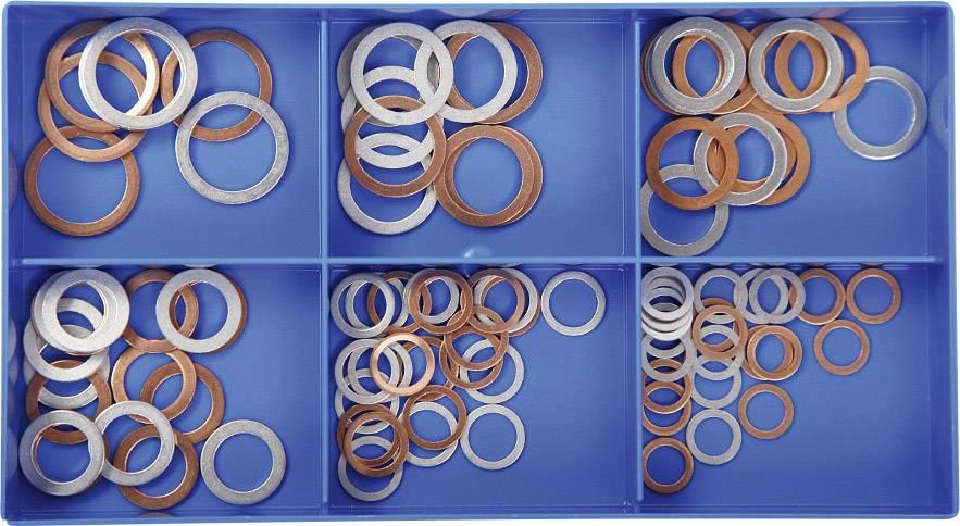 100 - dielny sortiment medených / hliníkových tesniacich krúžkov