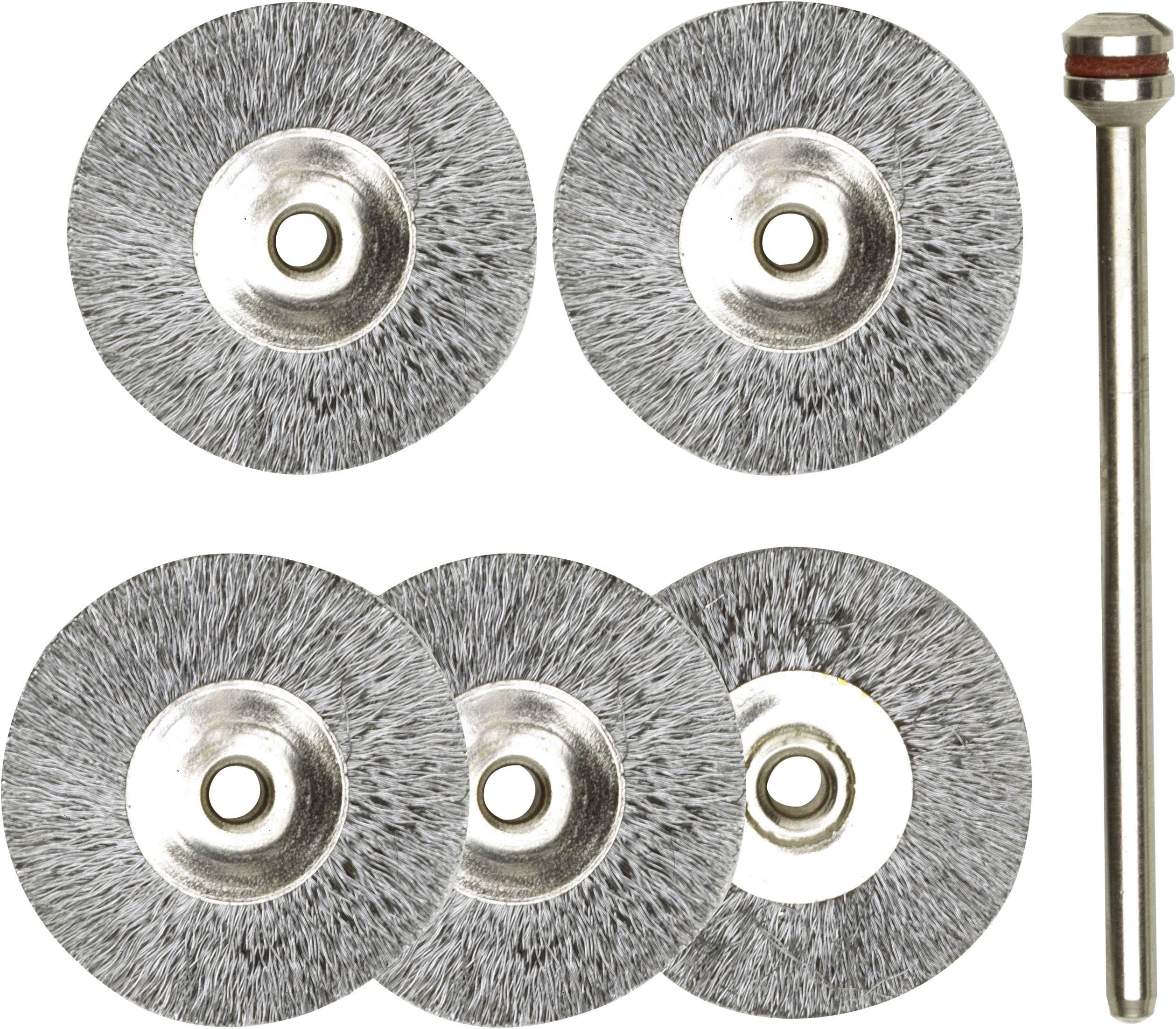 Sada kulatých ocelových kartáčů Proxxon Micromot 28 952, Ø 22 mm, 5 ks