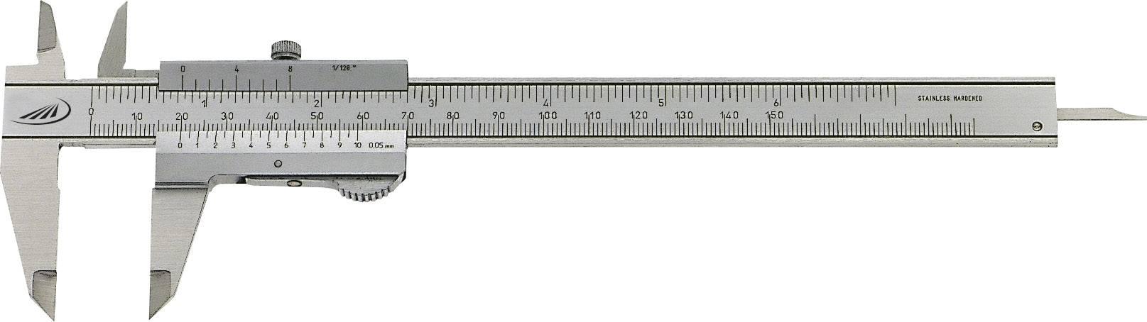 Kapesní posuvné měřítko Helios Preisser Duo Fix 0190 501, měřicí rozsah 150 mm, Kalibrováno dle podnikový standard (bez certifikátu) (own)