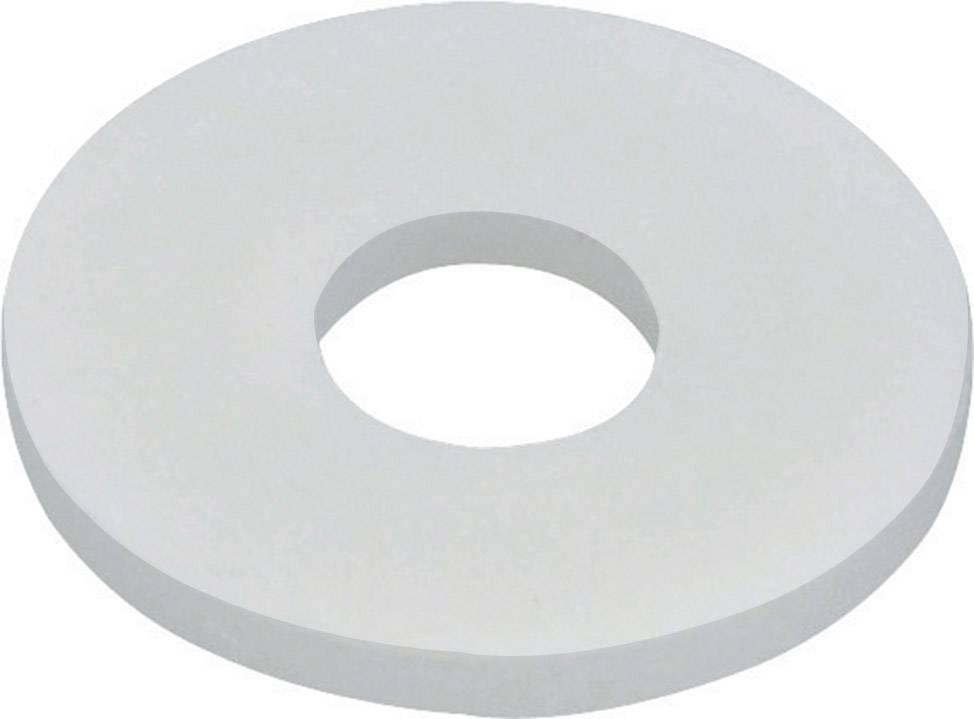 Podložka plochá TOOLCRAFT 800281, vnútorný Ø: 3.2 mm, umelá hmota, 10 ks