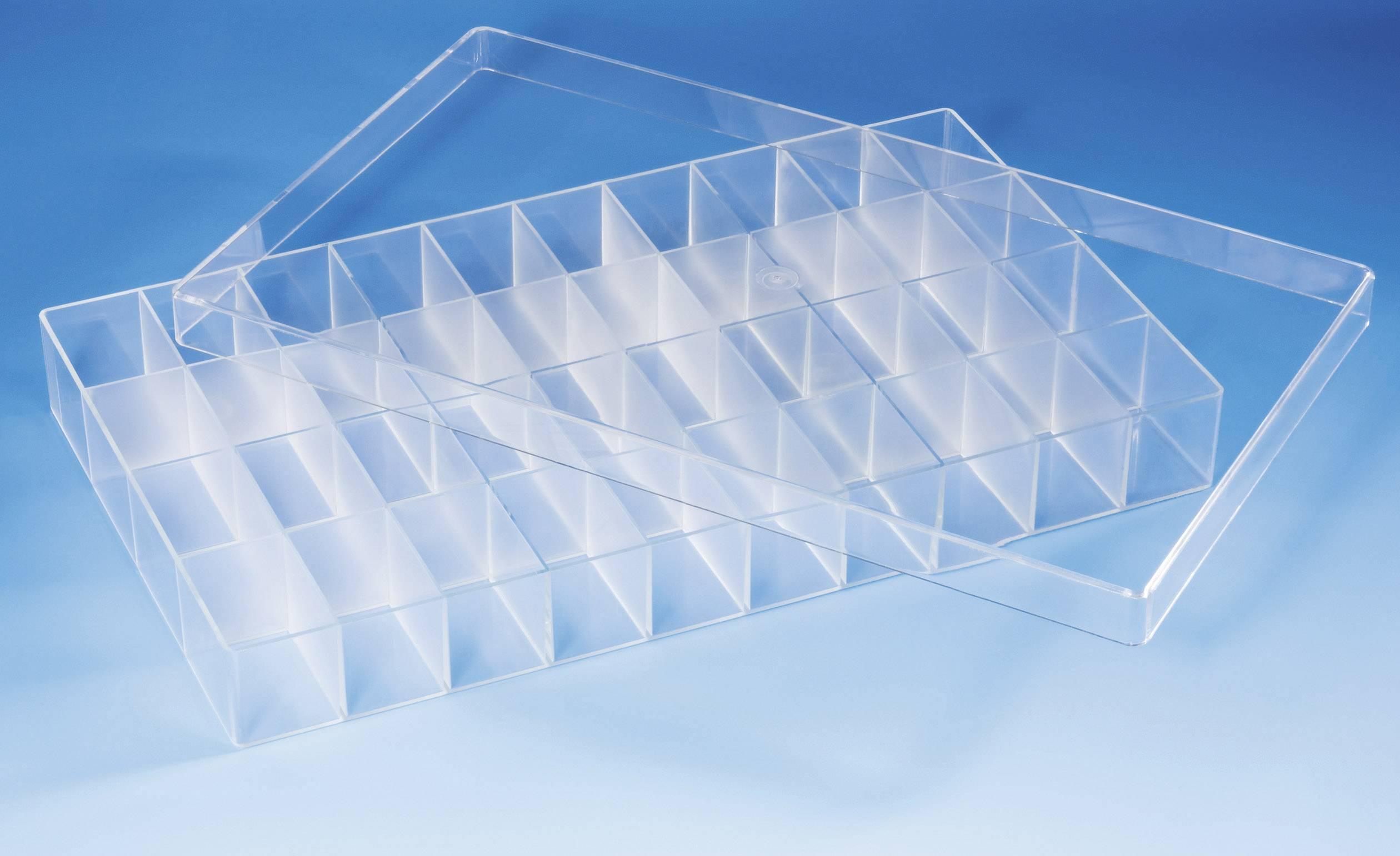 Krabička na drobné súčiastky 800288, priečinkov: 40, 358 x 210 x 43 , priehľadná