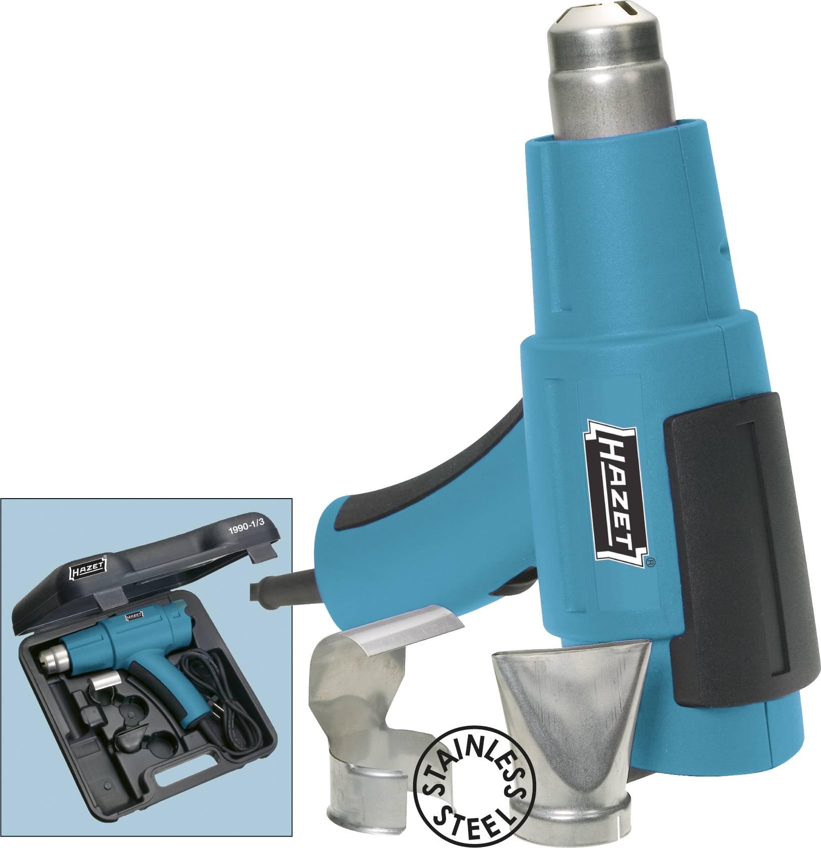Teplovzdušná pištoľ Hazet 1990-1/3, 1600 W, 350 °C, 500 °C