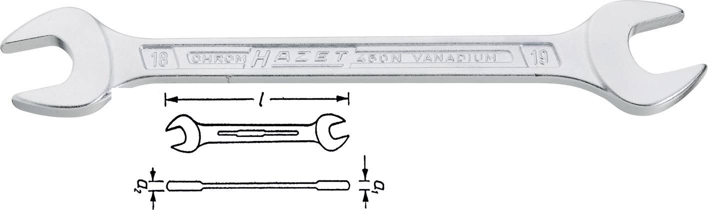 Dvojitý plochý klíč Hazel, 6 x 7 mm