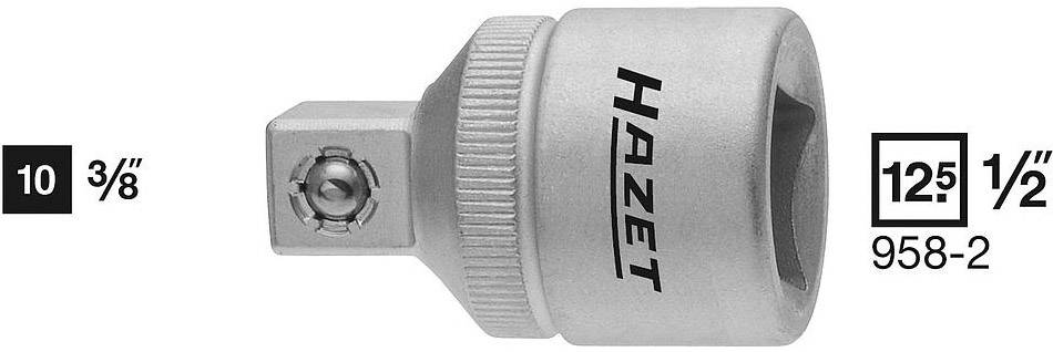 """Adaptér zástrčného klíče Hazet 958-2, 3/8"""" (10 mm), 36 mm"""