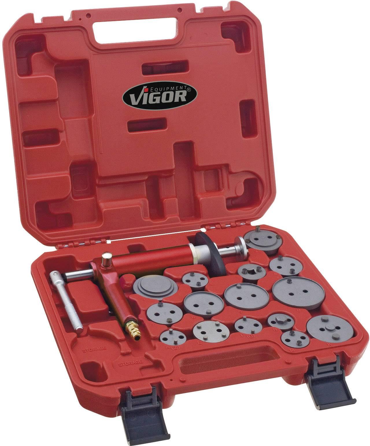 Pneumatická sada pre spätné zatlačenie brzdových piestikov Vigor, V1711, 16 ks