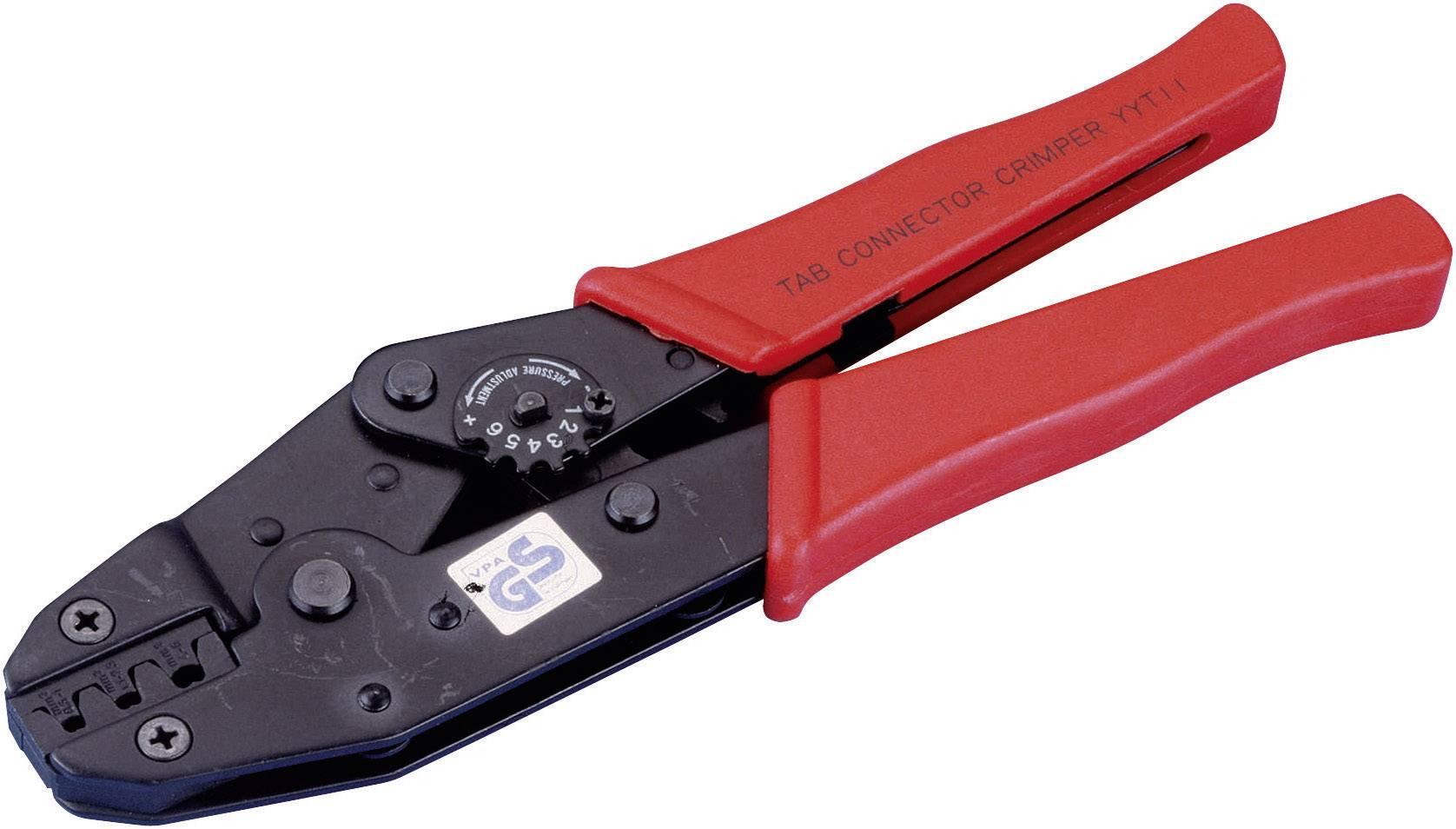 Krimpovací kleště pro neizolované konektory, 0,5-1,5/1,1-2,5/4-6 mm²
