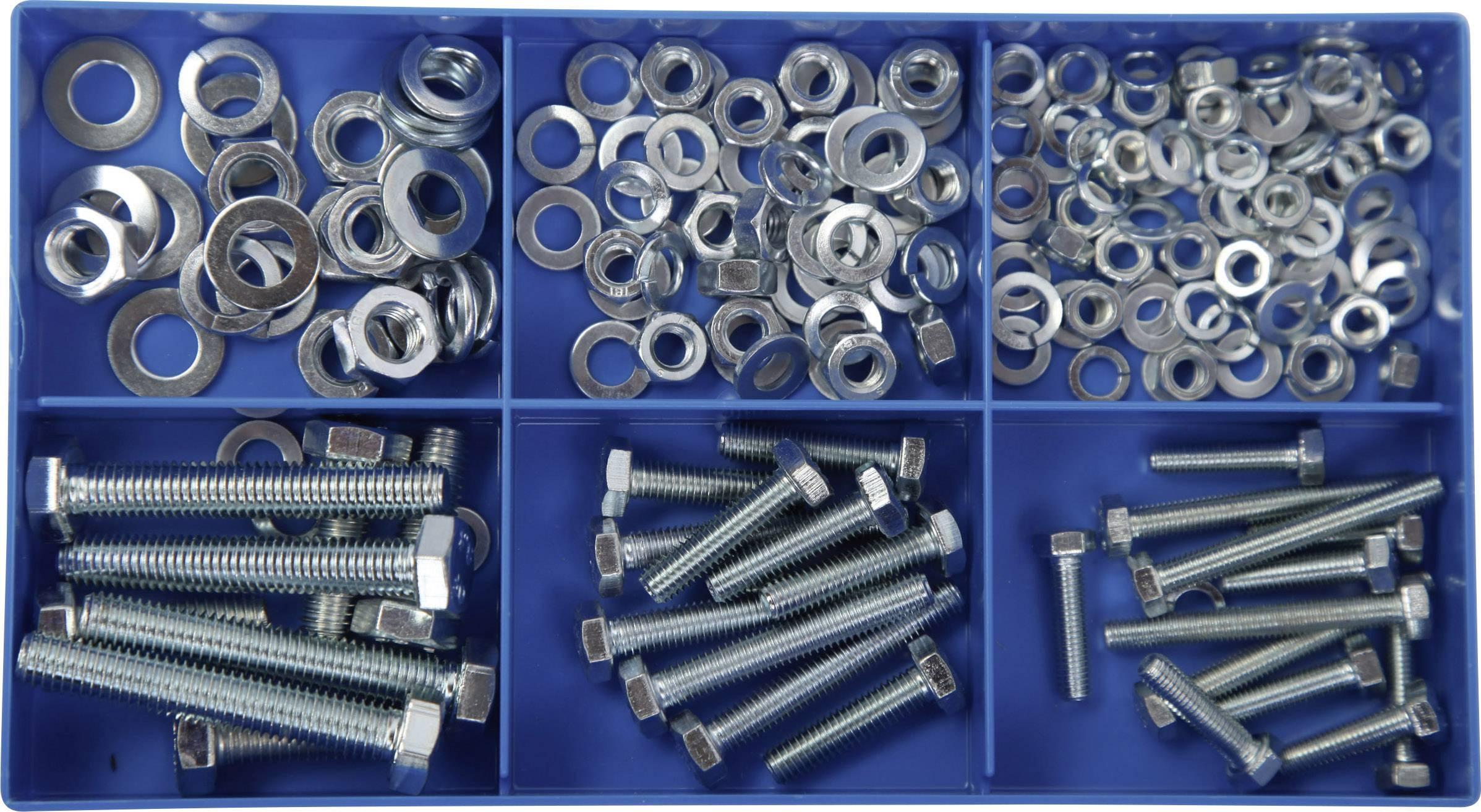 150 - dielny sortiment 6 hranných oceľových skrutiek