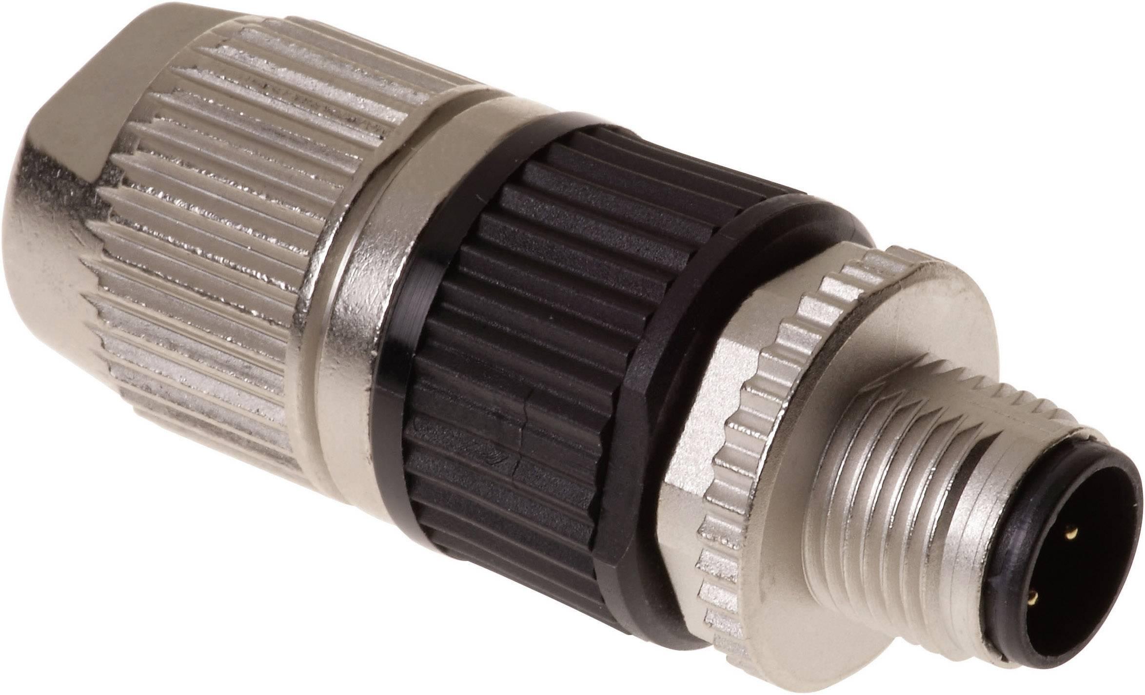 Neupravený zástrčkový konektor pre senzory - aktory Harting HARAX® M12-L 21 03 212 1305, 1 ks