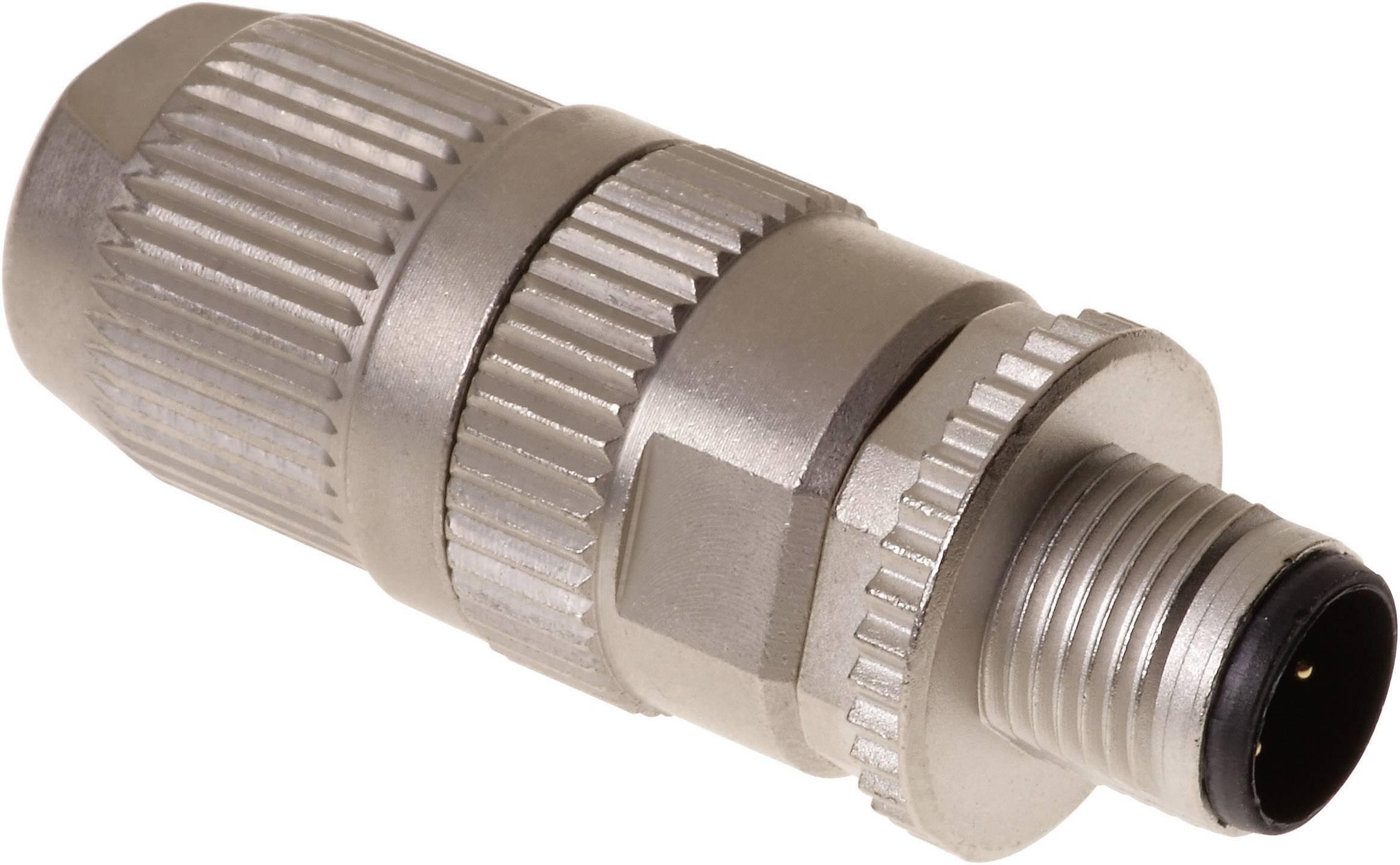 Neupravený zástrčkový konektor pre senzory - aktory Harting HARAX® M12-L 21 03 221 1405, 1 ks