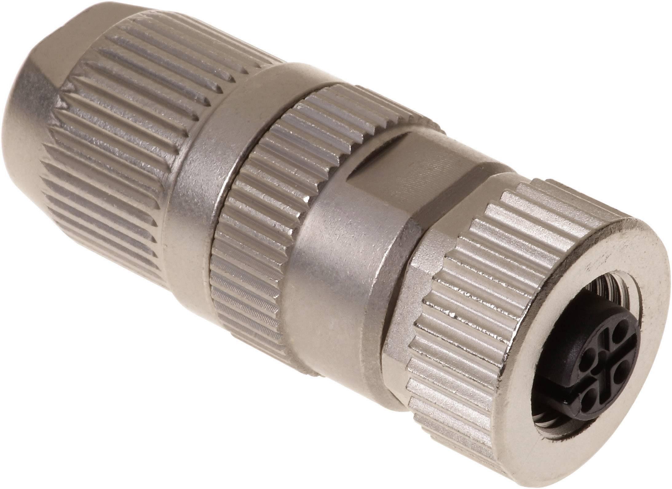 Neupravený zástrčkový konektor pre senzory - aktory Harting HARAX® M12-L 21 03 221 2405, 1 ks